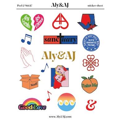 Aly & AJ Sticker Sheet