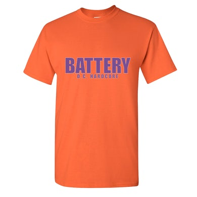 Battery Die Hard T-shirt   Orange