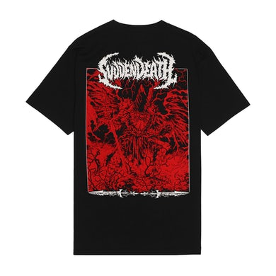 """SVDDEN DEATH """"Sorcerer"""" T-Shirt in Black."""
