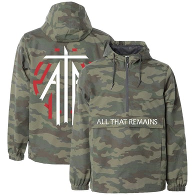 "All That Remains ""Logo & Emblem"" Camo Anorak Windbreaker"