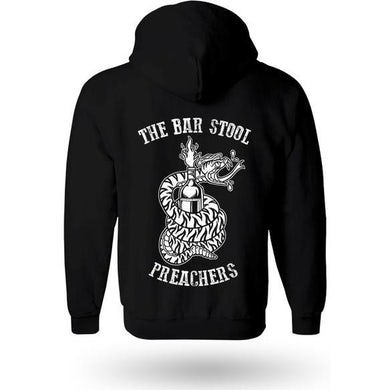 The The Barstool Preachers - Snake Logo - Black - Zip Hoodie