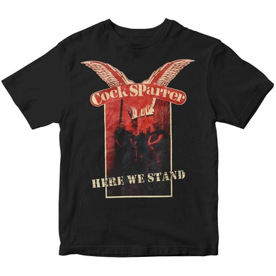 Cock Sparrer - Here We Stand - Black - T-Shirt