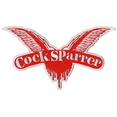 """Cock Sparrer - Wings - Red - XL Patch - Embroidered - 12"""" x 7.5"""