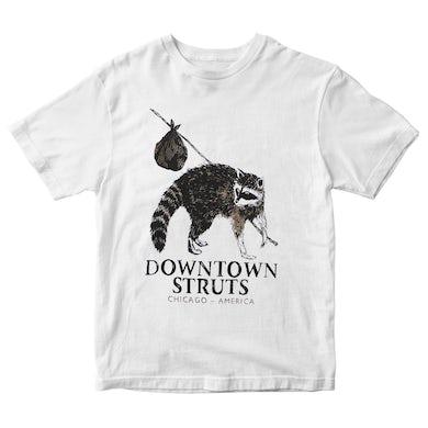 Downtown Struts - Raccoon - White - T-Shirt