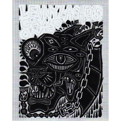Lenny Lashley's Gang of One Lenny Lashley Gang of One - Woodcut - Sticker