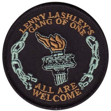 """Lenny Lashley's Gang of One Lenny Lashley Gang of One - All Are Welcome - Circle Torch - Patch - Embroidered - 3"""""""