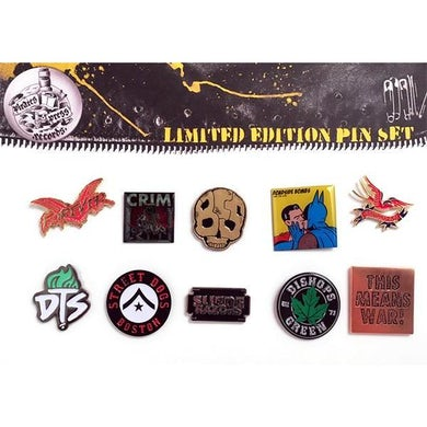 Cock Sparrer Pirates Press Records Enamel Pin Set #1 (SPARRER, STREET DOGS, DTS, ETC)