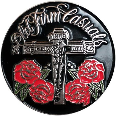 "The Old Firm Casuals - Crucified Roses - 1.25"" Enamel Pin"