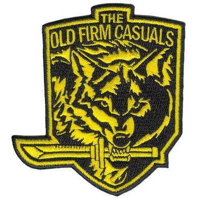 "The Old Firm Casuals - Wolf Knife - Patch - Embroidered - 4"" x 3.5"""