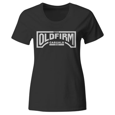 The Old Firm Casuals - Logo - Silver on Black - T-Shirt - Fitted