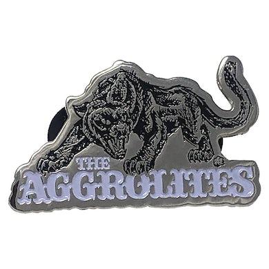 "The Aggrolites - Aggropanther - Black & White on Silver - 1.5"" Enamel Pin"