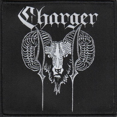 """Charger - Ram - Black - Patch - Woven - 4""""x4"""""""