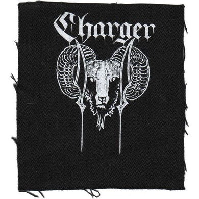 """Charger - Ram - Black - Patch - Cloth - Screened - 4""""x4"""""""