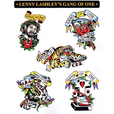 """Lenny Lashley's Gang Of One - """"All Are Welcome"""" Tattoo Sheet"""