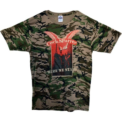 Cock Sparrer - Here We Stand - Camo - T-Shirt