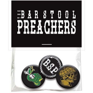 The The Barstool Preachers - 3 Button Pack in Bag w/ Hang Card