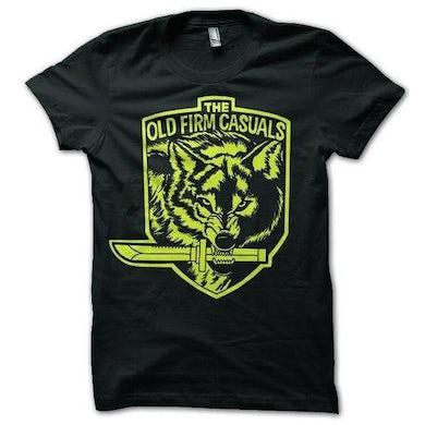 Wolf Knife - Yellow on Black - T-Shirt