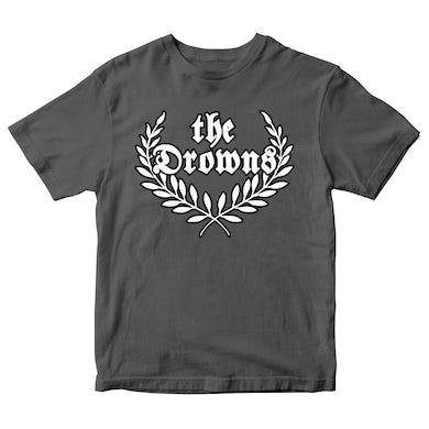 The Drowns - Wreath Logo - Grey - T-Shirt