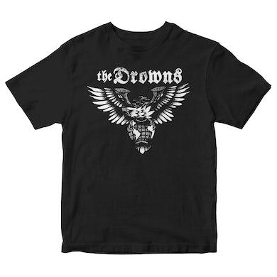 The Drowns - Eagle Logo - White on Black - T-Shirt