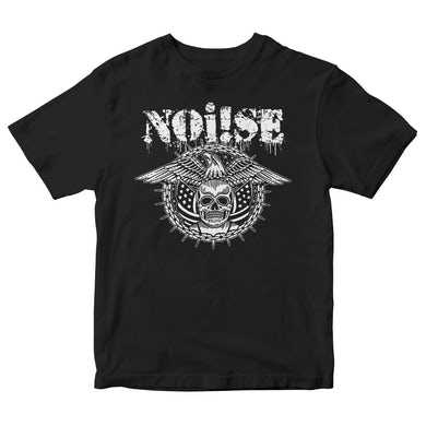 NOi!SE - Skull Eagle Logo - Black - T-Shirt