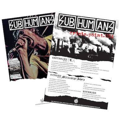 Subhumans - Crisis Point - Tour - Poster - Folded