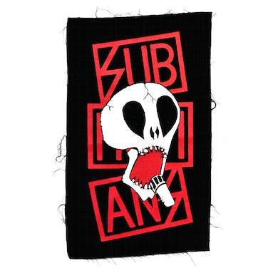 Subhumans - Skull & Red Logo - Black - Back Patch