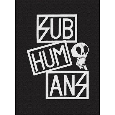 Subhumans - Small Skull & Three Part Logo - Black - Back Patch