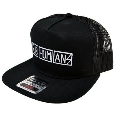 Subhumans - Logo - Black w/ Black Mesh - Otto Snapback Hat
