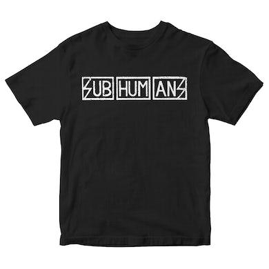 Subhumans - Horizontal Logo - Black - T-shirt
