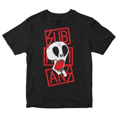 Subhumans - Skull & Red Logo - Black - T-shirt