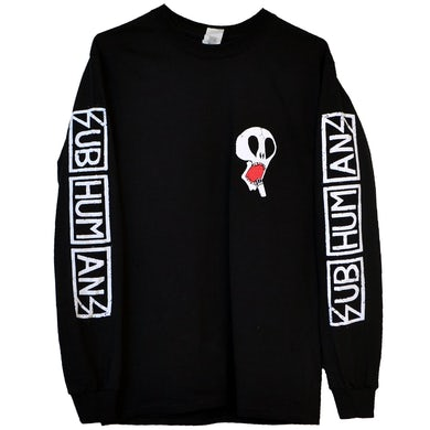 Subhumans - Small Skull - Black - Long-Sleeve T-shirt