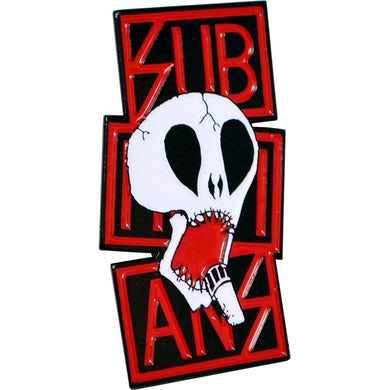 "Subhumans - Skull & Red Logo - 2"" Enamel Pin"
