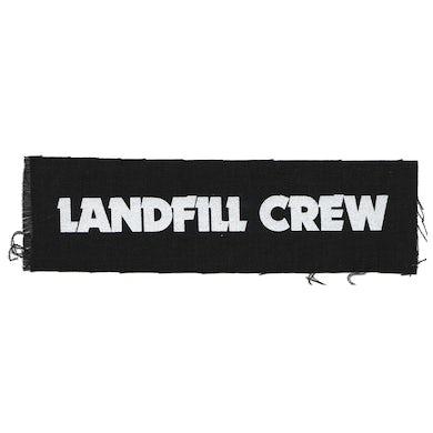"Landfill Crew - Text Logo - Black - Patch - Cloth - Screenprinted - 8"" x 3"""