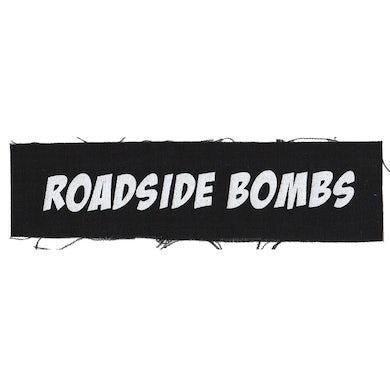 "Roadside Bombs - Text Logo - Black - Patch - Cloth - Screenprinted - 8"" x 3"""
