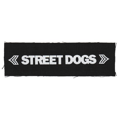 "Street Dogs - Text Logo - Black - Patch - Cloth - Screenprinted - 8"" x 3"""