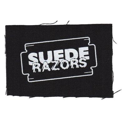 "Suede Razors - Logo - Black - Patch - Cloth - Screenprinted - 4"" x 4"""