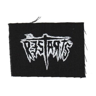 "The Restarts - Logo - Black - Patch - Cloth - Screenprinted - 4"" x 3"""