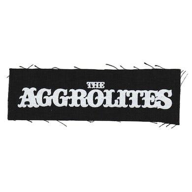 "The Aggrolites - Text Logo - Black - Patch - Cloth - Screenprinted - 8"" x 3"""