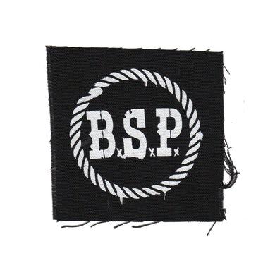 "The The Barstool Preachers - BSP Stencil - Black - Patch - Cloth - Screenprinted - 4"" x 4"""