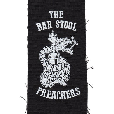 "The The Barstool Preachers - Snake Logo - Black - Patch - Cloth - Screenprinted - 8"" x 3"""