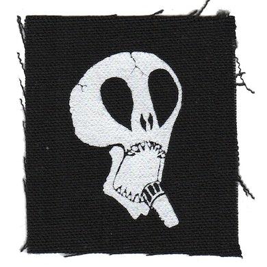 "The Subhumans - Skull - Black - Patch - Cloth - Screenprinted - 4"" x 4"""