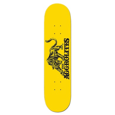 The Aggrolites - Aggropanther - Skateboard Deck - Yellow