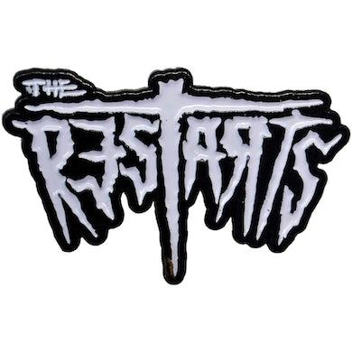 "The Restarts - Logo - White on Black - 1.5"" Enamel Pin"