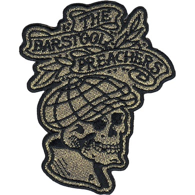 "The The Barstool Preachers - NEW Skull Logo - Patch - Embroidered - 4"" x 3.25"""