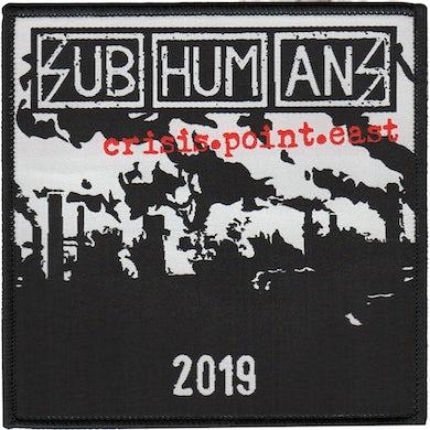 """Subhumans - Crisis Point - Tour - East - Woven Patch - 4""""x4"""""""