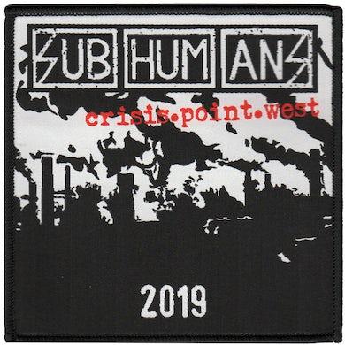 """Subhumans - Crisis Point - Tour - West - Woven Patch - 4""""x4"""""""
