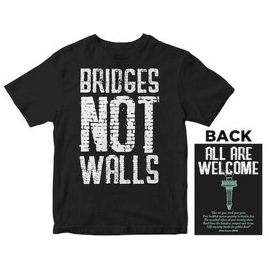 Lenny Lashley's Gang of One - Bridges Not Walls - Black - T-Shirt