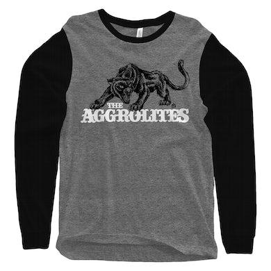 The Aggrolites - Aggropanther - Grey & Black - Baseball Tee