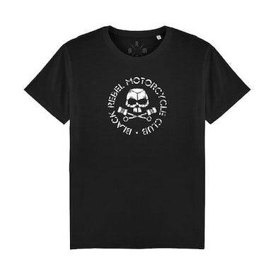 Black Rebel Motorcycle Club PISTON SKULL BLACK TEE
