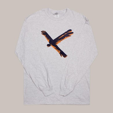 King Krule ALONE, OMEN GREY LONGSLEEVE T-SHIRT